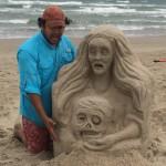 """Zombie boyfriend""  Beach Practice 2014, Padre Island, TX"