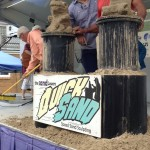 """Dinosaur Driving a Car"" Bluewater SandFest 2015, Port Huron, MI"